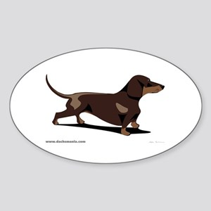 Dachshund Oval Sticker