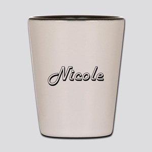 Nicole Classic Retro Name Design Shot Glass