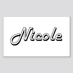 Nicole Classic Retro Name Design Sticker