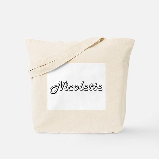 Nicolette Classic Retro Name Design Tote Bag