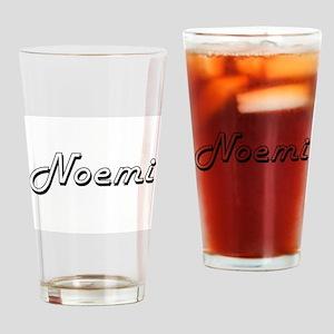 Noemi Classic Retro Name Design Drinking Glass