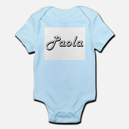 Paola Classic Retro Name Design Body Suit