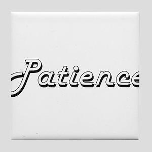 Patience Classic Retro Name Design Tile Coaster