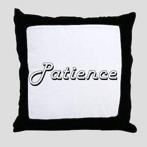 Patience Classic Retro Name Design Throw Pillow