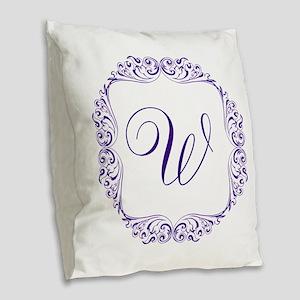 CUSTOM Monogram Florid Script Purple Burlap Throw