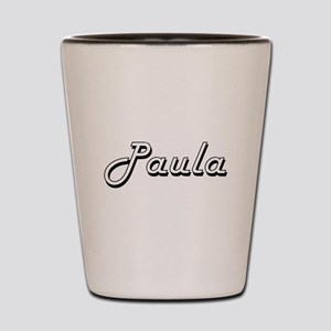 Paula Classic Retro Name Design Shot Glass