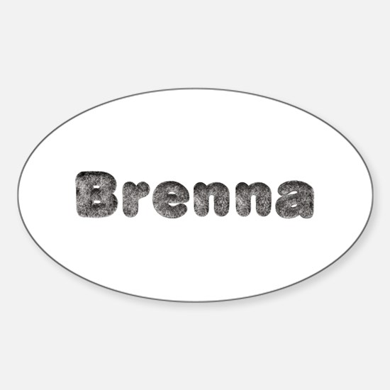 Brenna Wolf Oval Decal