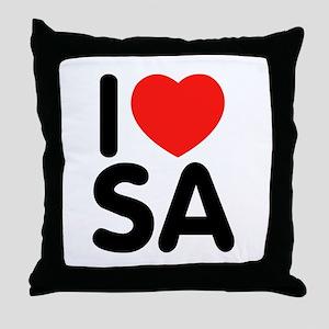 I Love SA Throw Pillow