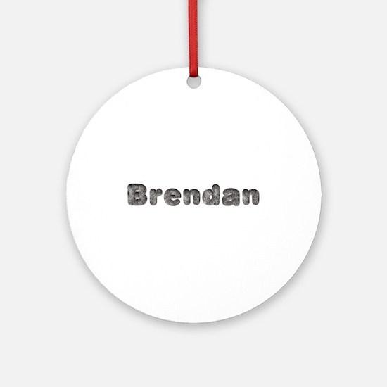 Brendan Wolf Round Ornament