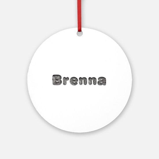 Brenna Wolf Round Ornament