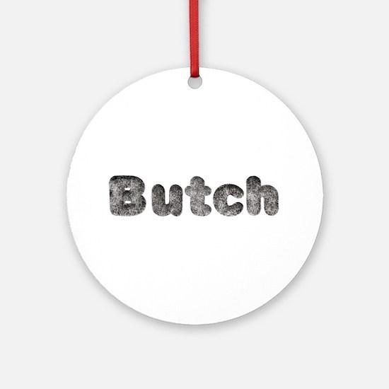 Butch Wolf Round Ornament