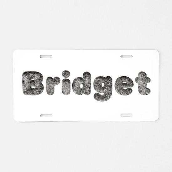 Bridget Wolf Aluminum License Plate