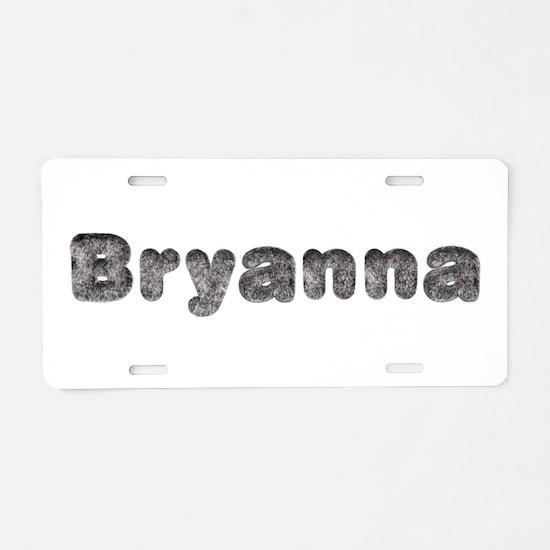 Bryanna Wolf Aluminum License Plate