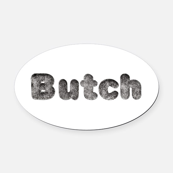 Butch Wolf Oval Car Magnet