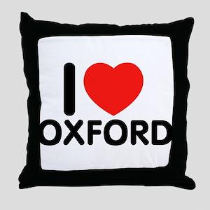 I Love Oxford Throw Pillow