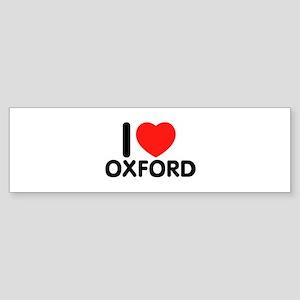 I Love Oxford Bumper Sticker