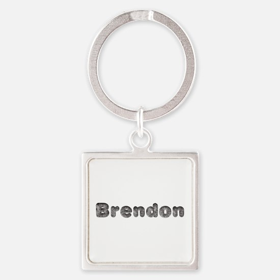 Brendon Wolf Square Keychain
