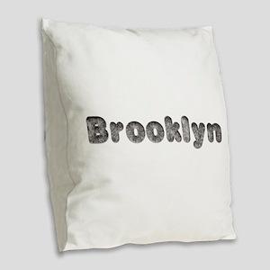 Brooklyn Wolf Burlap Throw Pillow
