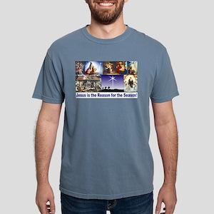 Christmas Nativity Medle Mens Comfort Colors Shirt