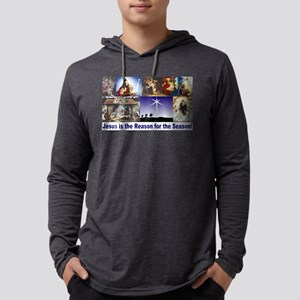 Christmas Nativity Medley Mens Hooded Shirt
