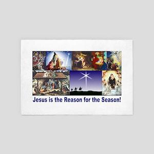 Christmas Nativity Medley 4' x 6' Rug