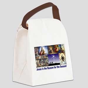 Christmas Nativity Medley Canvas Lunch Bag