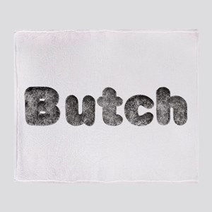 Butch Wolf Throw Blanket