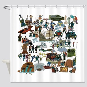 Never Say Die Shower Curtain