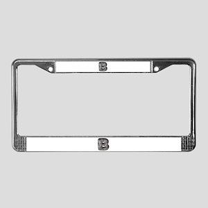 B Wolf License Plate Frame