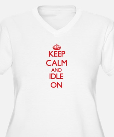 Keep Calm and Idle ON Plus Size T-Shirt