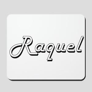 Raquel Classic Retro Name Design Mousepad