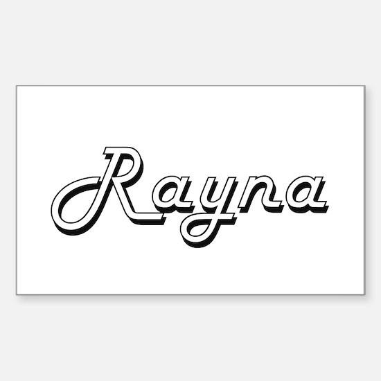 Rayna Classic Retro Name Design Decal