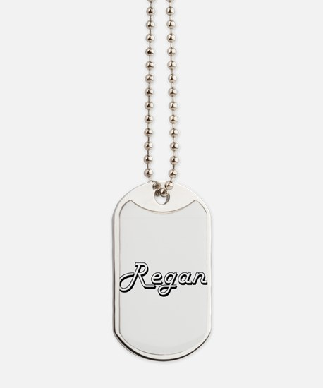 Regan Classic Retro Name Design Dog Tags