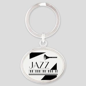 Love For Jazz - Oval Keychain