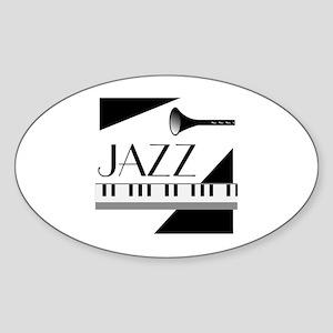 Love For Jazz - Sticker (Oval)