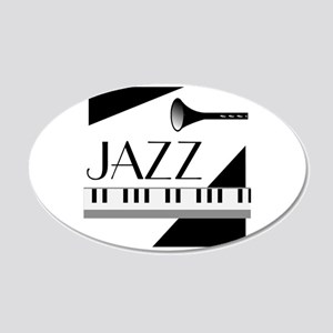 Love For Jazz - 20x12 Oval Wall Decal