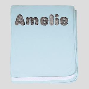 Amelie Wolf baby blanket