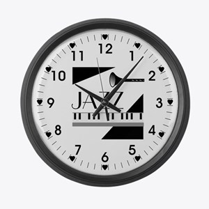 Love For Jazz - Large Wall Clock