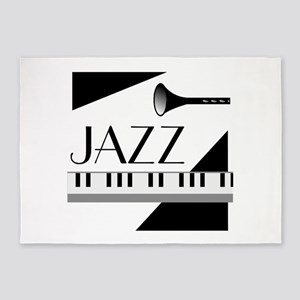 Love For Jazz - 5'x7'Area Rug
