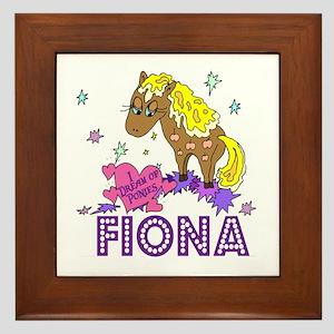 I Dream Of Ponies Fiona Framed Tile