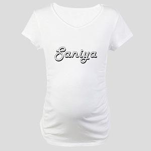Saniya Classic Retro Name Design Maternity T-Shirt