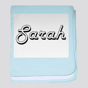Sarah Classic Retro Name Design baby blanket