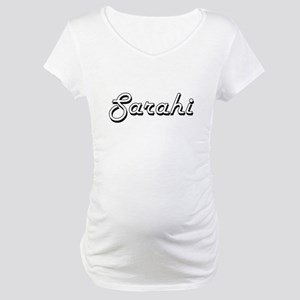 Sarahi Classic Retro Name Design Maternity T-Shirt