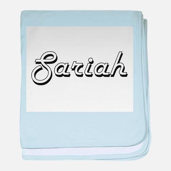 Sariah Classic Retro Name Design baby blanket
