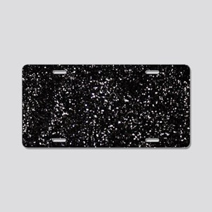 Black Glitter Aluminum License Plate