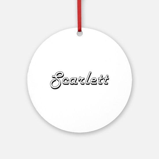 Scarlett Classic Retro Name Desig Ornament (Round)
