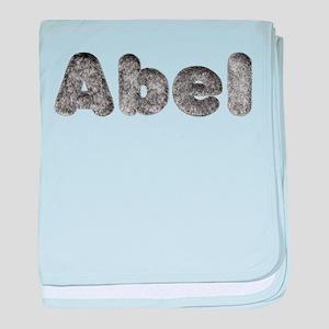Abel Wolf baby blanket