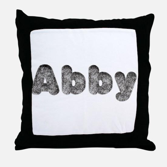 Abby Wolf Throw Pillow