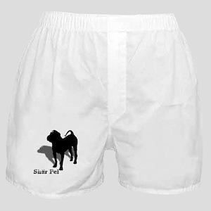 Shar Pei Silhouette Boxer Shorts