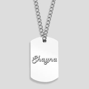 Shayna Classic Retro Name Design Dog Tags